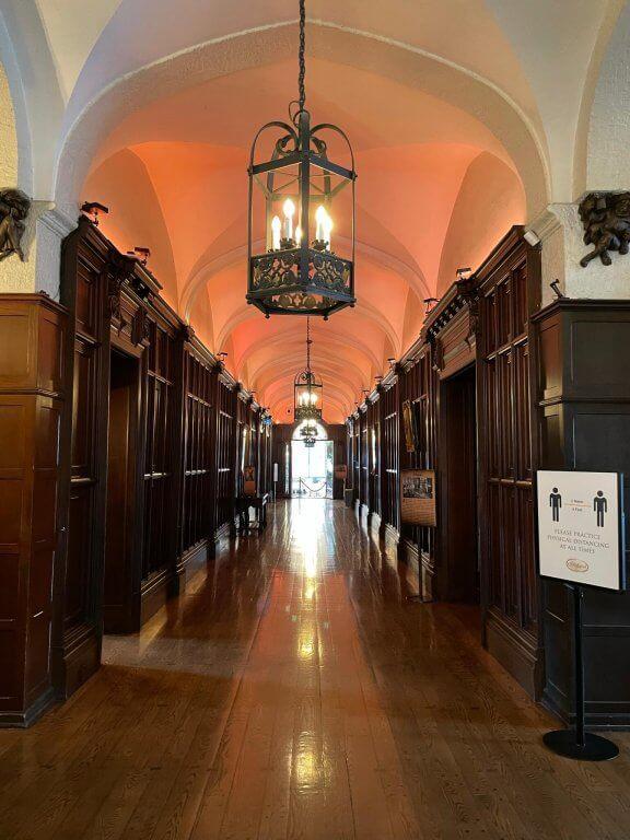 Long hallway in Casa Loma