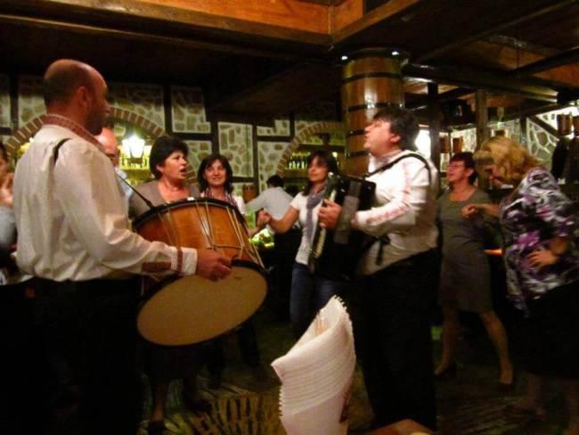 Bulgarian drums and dancing
