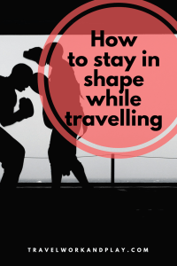 Travel Fitness Part I: Ever wondered how to stay in shape while travelling? This is the first in a series about staying fit on the road. From travel diet and nutrition to workout plans and advice on how to workout while abroad. Routines without equipment and using resistance bands. Read on or pin for later!