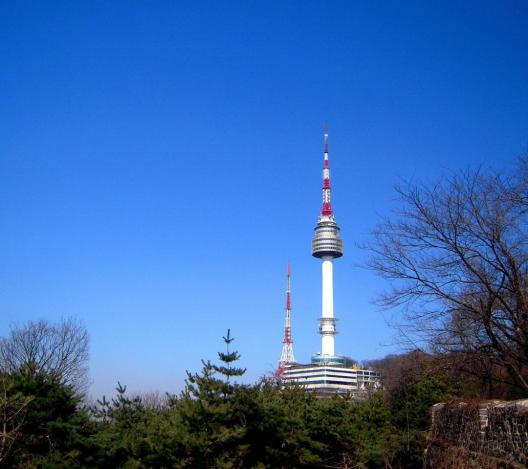 As seen from the bottom of Namsan Mountain