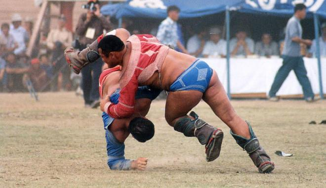 During the Naadam Festival