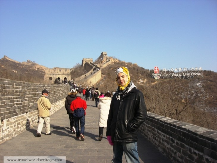 While I normally don't post pictures of myself, I actually don't have many pictures of the great wall as it was -25 Celsius and I was freezing.