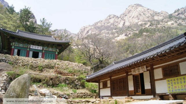Pretty much every mountain in Korea has a couple of temples tucked inside. I guess monks like to hike.