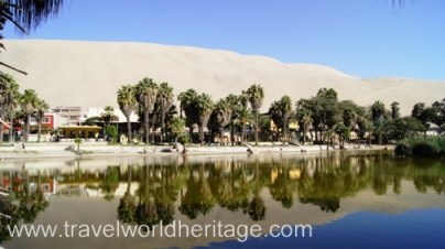 The Huacachina Oasis is the only one of its kind in the Americas. It looks straight out of the Sahara Desert.