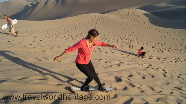 Sand boarding - Huacachina