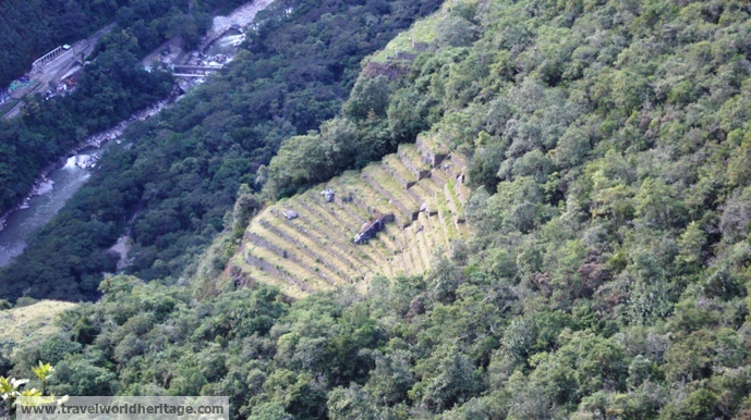 These terraces were actually found in 2011, downhill from the city. They can only be viewed from Wayna Picchu.