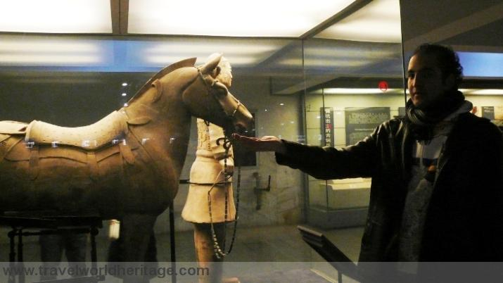In the actual Mausoleum of the first Qin Emperor.