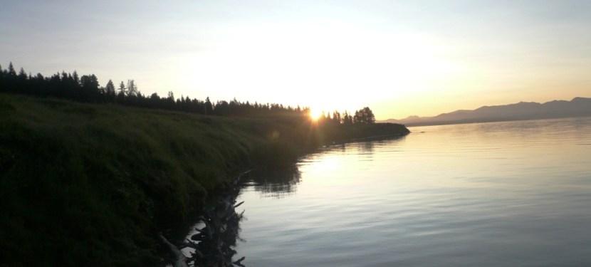 UNESCO Monday #5:Sunrise Over Yellowstone Lake
