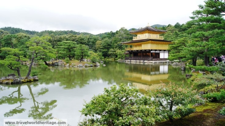 The Golden Pavilion in Kyoto is one of the prettiest buildings I have ever seen.