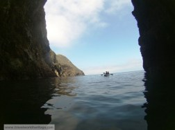 Exiting one of the more challenging sea-caves!