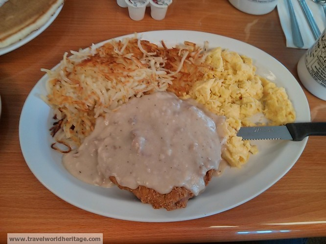 Country Fried Steak and Eggs - cowgirl cafe