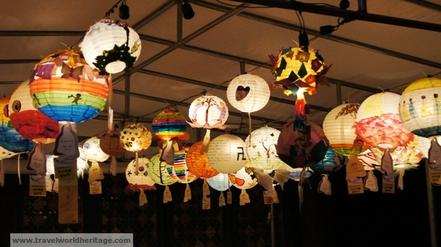 Lanterns from school children.