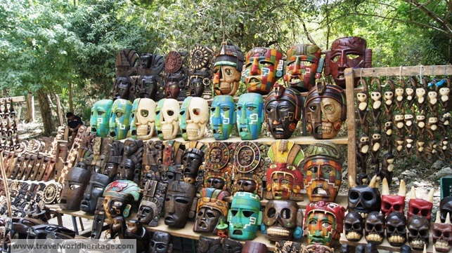 Mayan masks for sale.