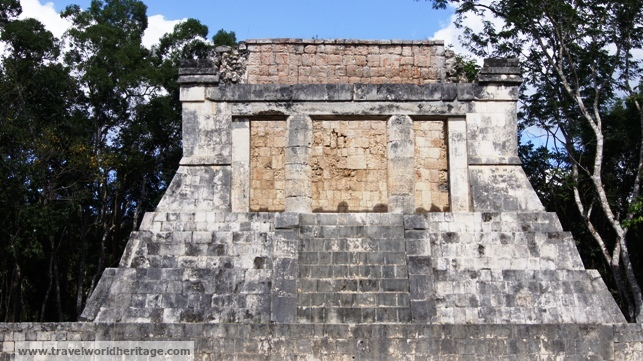 The Maya throne where the king watched the ball game.
