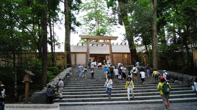 The main shrine of Amaterasu. This is as close as you can get with a camera in hand.