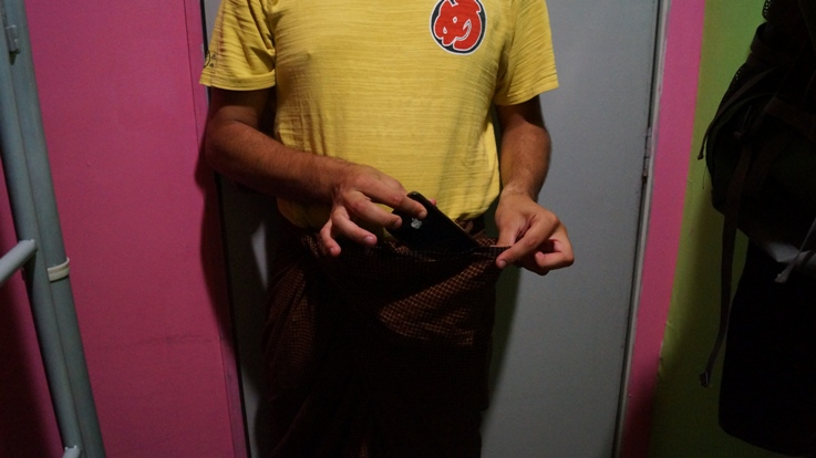Step 9a - Place a phone or wallet into the pocket