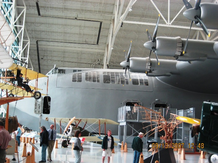 The largest airplane ever built: The Spruce Goose.