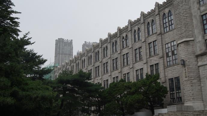 Next to Kyunghee University Library