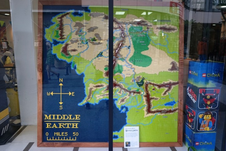 This was a pretty cool Lego map of Middle Earth in front of a Lego store in Christchurch.