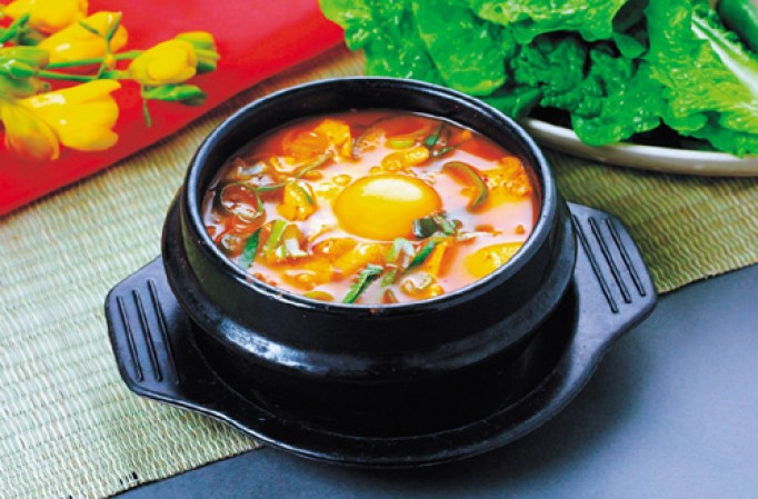 Korean Food - Soft Tofu Soup
