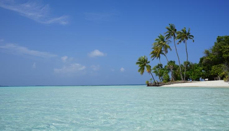 Dhangethi Island in the Maldives