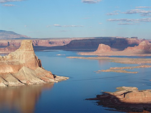 Aerial view of Lake Powell. Photo by Jeffrey Lehmann.