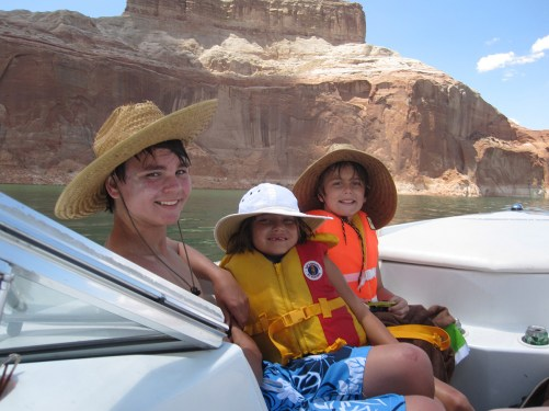 Boys at Lake Powell. Photo by Jeffrey Lehmann.