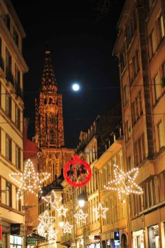 Strasbourg Cathedral Christmas Lights