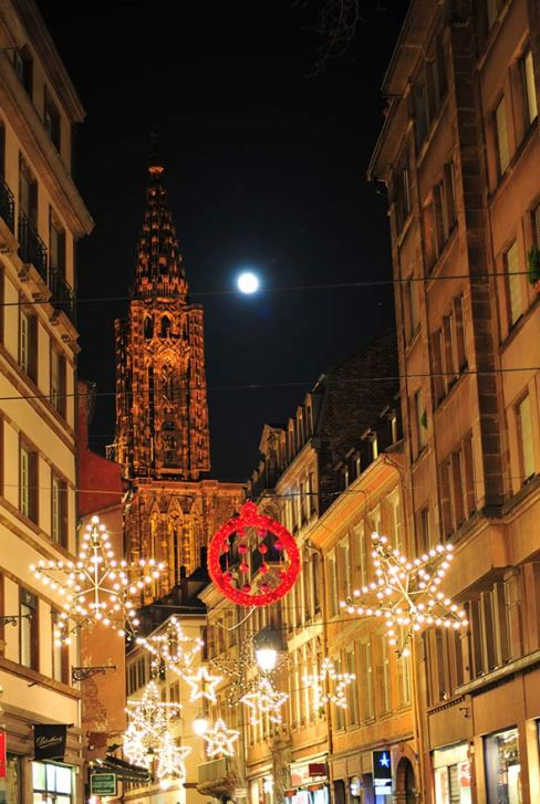 Strasbourg Cathedral Christmas Lights