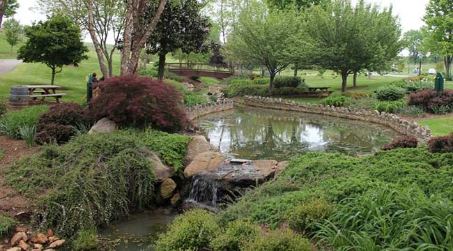 Gardens at Shelton Vineyards in North Carolina Wine Country