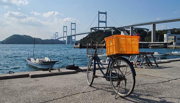 view of the Kurushima Kaikyo Ohashi Bridge