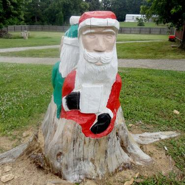 Santa Claus painted stump