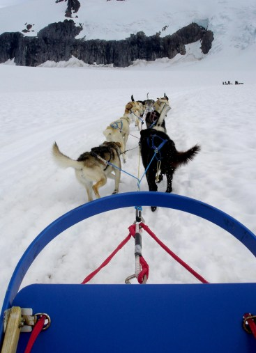 View forward from sled