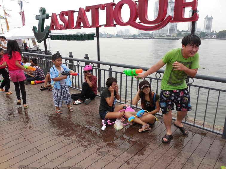 During the annual celebration of the Buddhist festival of Songkran, revelers douse each other with water for spiritual cleansing, as well as to cool down during the hottest time of the year.