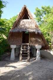 Chamorro Hut Supported by Latte Stones