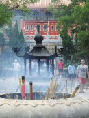 Incense burning, Po Lin Monastery, Lantau Island