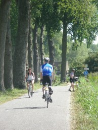 Cyclists enjoy the wide, level bike paths throughout this region. Photo Credit: Deborah Stone