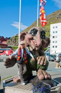 Author & Troll at North Cape. Photo credit: Jennifer Crites