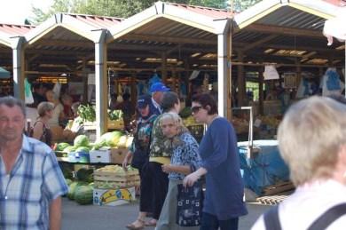 Local market in Vukovar, Croatia. Photo credit: Bob and Sandy Nesoff