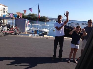 Bidding adieu to the Anjodi crew. Photo credit: Jacqueline Harmon Butler