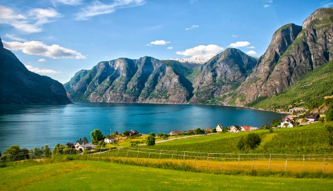 Geirangerfjord: A bubolic town on spectacular Geirangerfjord. Photo credit: Jennifer Crites