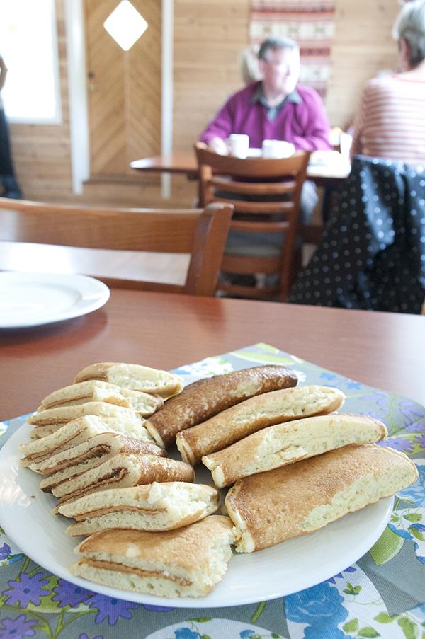 Geirangerfjord: Delicious handmade goat-cheese pancakes. Photo credit: Jennifer Crites