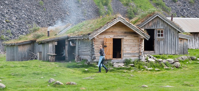Geirangerfjord: Log buildings at Herdal Summer goat farm. Photo credit: Jennifer Crites