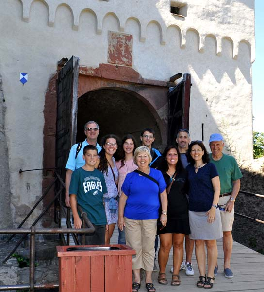 Troiano Family at Marksburg Castle. Photo credit: Nancy Schretter