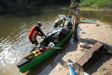 Packing the supply canoe. Photo credit: Jeffrey Lehmann