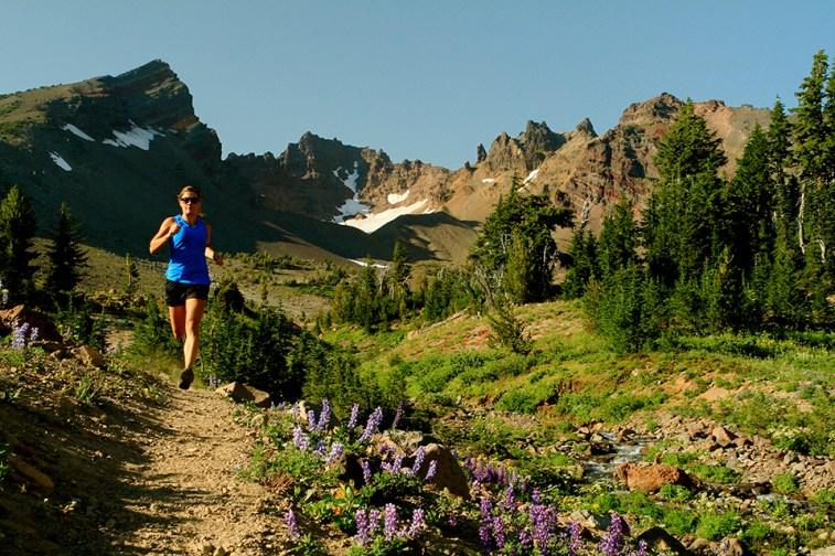 Trail running near Broken Top in Bend, Oregon. Photo Credit: Pete Alport, Visit Bend