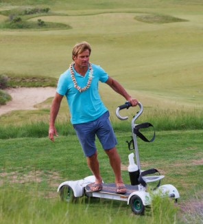 Laird Hamilton Golfboard at Tetherow. Photo Credit: Barb Gonzalez