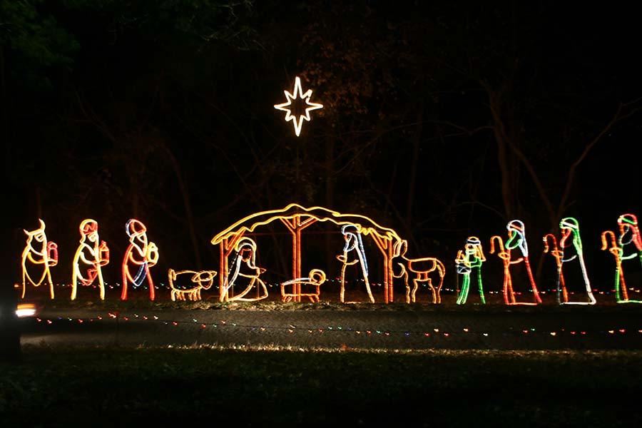 Branson-nativity in lights