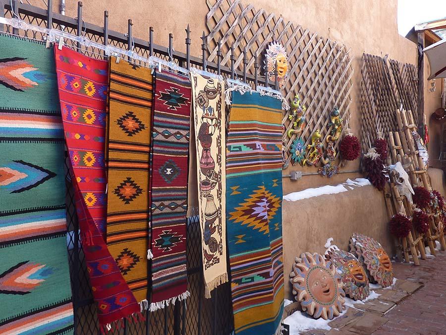 Woven rugs. Photo Credit: Barbara Singer