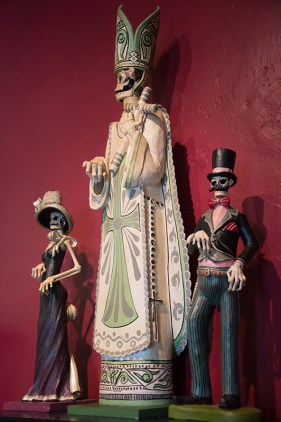 "Dia de Los Muertos (""Day of the Dead"") sculptures"